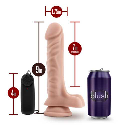 DR. SKIN DR. JAMES 9IN VIBRATING COCK W/ SUCTION CUP VANILLA