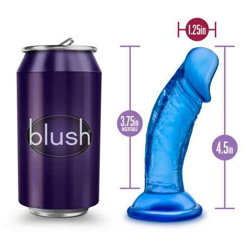 B YOURS SWEET N' SMALL 4IN DILDO W/ SUCTION CUP BLUE