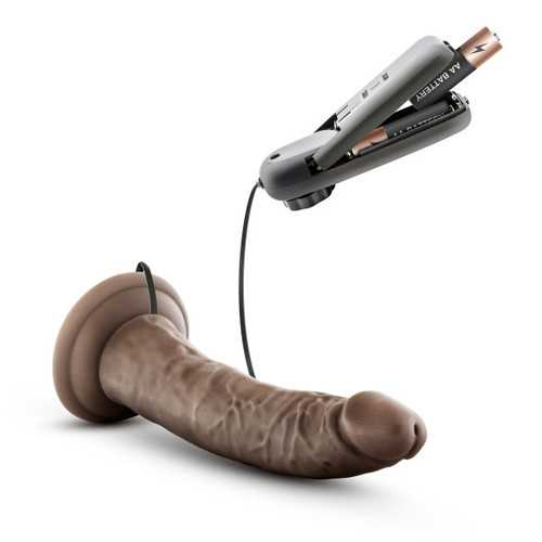 DR. SKIN DR. DAVE 7IN VIBRATING COCK W/ SUCTION CUP CHOCOLATE