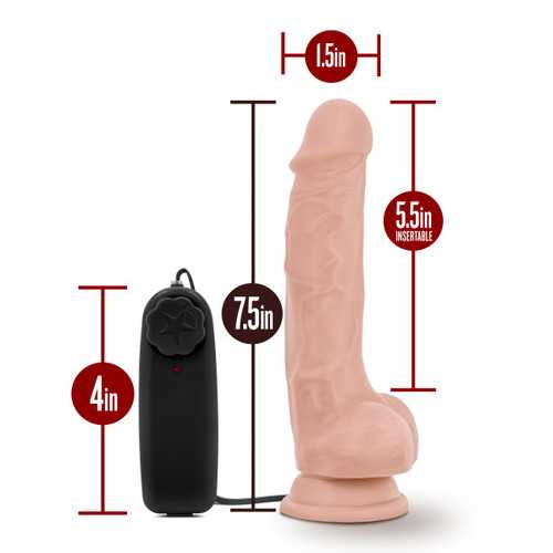 DR. SKIN DR. TIM 7.5IN VIBRATING COCK W/ SUCTION CUP VANILLA