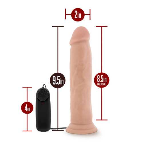DR. SKIN DR. THROB 9.5IN VIBRATING COCK W/ SUCTION CUP VANILLA