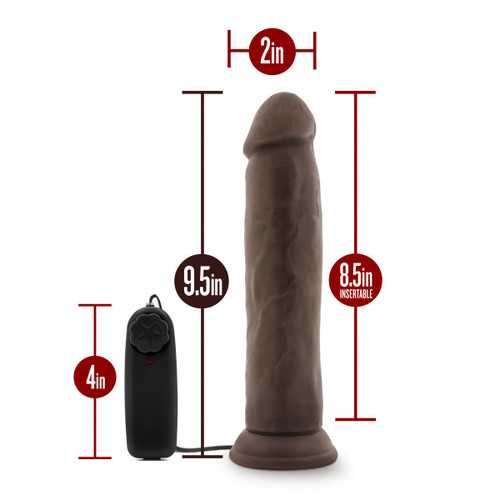 DR. SKIN DR. THROB 9.5IN VIBRATING COCK W/ SUCTION CUP CHOCOLATE