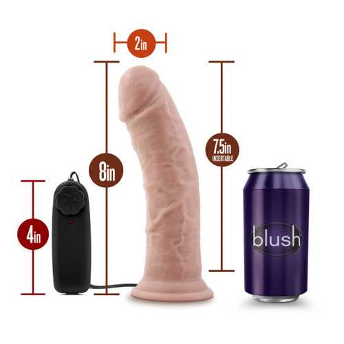 DR. SKIN DR. JOE 8IN VIBRATING COCK W/ SUCTION CUP VANILLA
