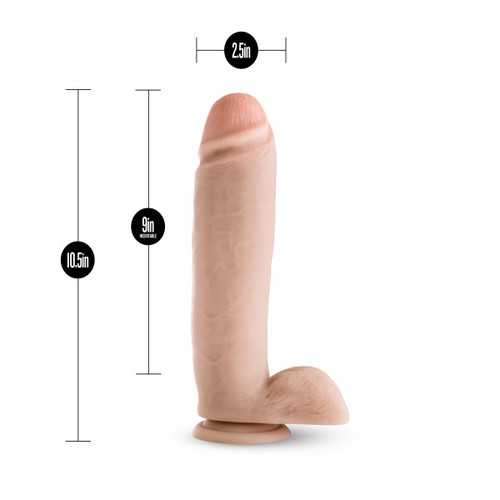 SILICONE WILLY'S 10.5IN DILDO W/ SUCTION CUP VANILLA