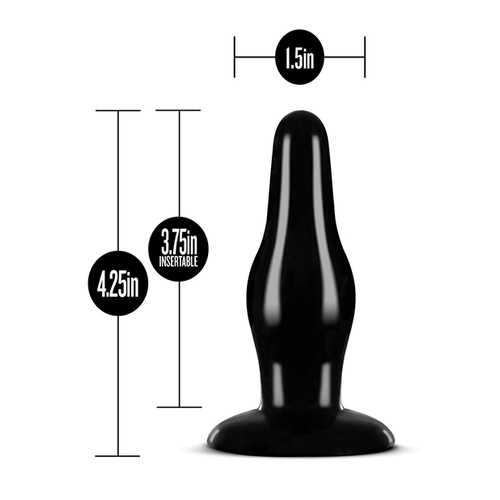 ANAL ADVENTURES PLEASURE PLUG BLACK