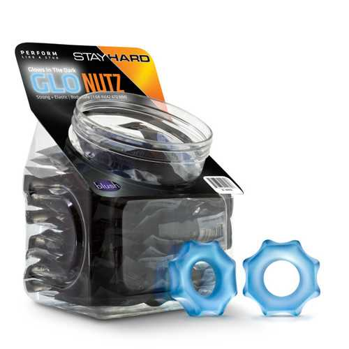 STAY HARD GLO NUTZ 40 PIECE FISHBOWL BLUE