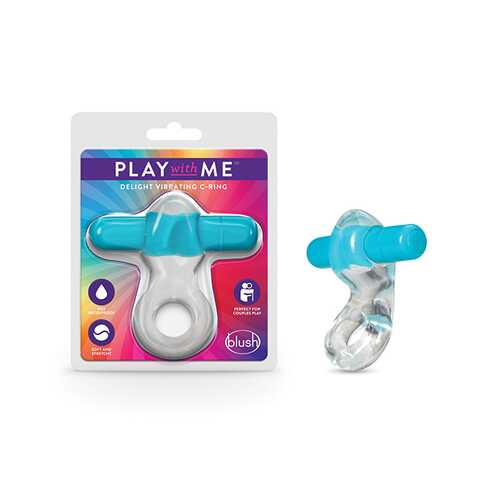 PLAY WITH ME DELIGHT VIBRATING C-RING BLUE