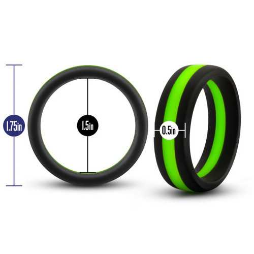 PERFORMANCE SILICONE GO PRO COCK RING BLACK/GREEN/BLACK