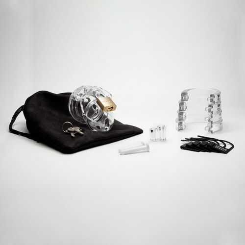 MINI-ME KIT 1.25IN CLEAR COCK CAGE
