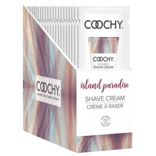 COOCHY SHAVE CREAM ISLAND PARADISE FOIL 15 ML 24PC DISPLAY