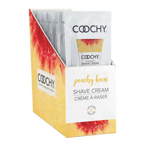 COOCHY SHAVE CREAM PEACHY KEEN FOIL 15ML 24PC DISPLAY