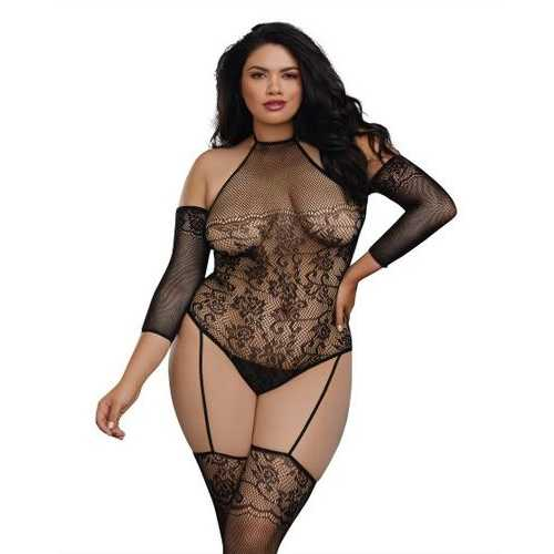 TEDDY BODY STOCKING DMD O/S QUEEN