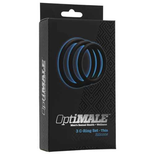 OPTIMALE 3PC C-RING SET THIN BLACK