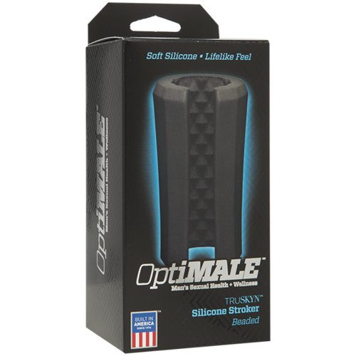 (WD) OPTIMALE SILICONE STROKER BEADED BLACK