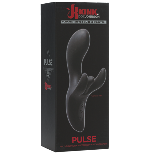 (D) KINK PULSE ULTIMATE 4 MOTO SILICONE VIBRATOR BLACK
