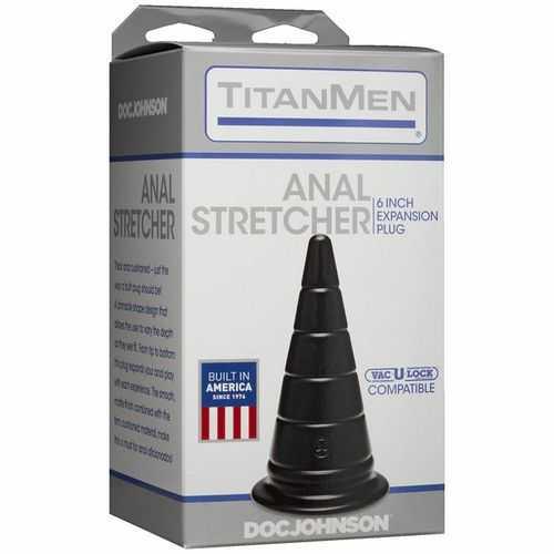 "TITANMEN ANAL STRETCHER 6 EXPANSION PLUG BLACK """