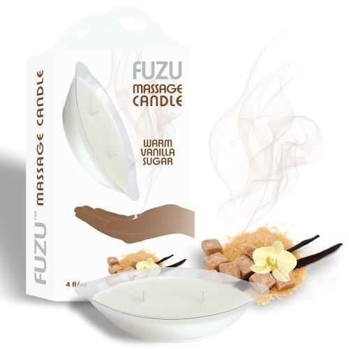FUZU MASSAGE CANDLE WARM VANILLA SUGAR 4 OZ