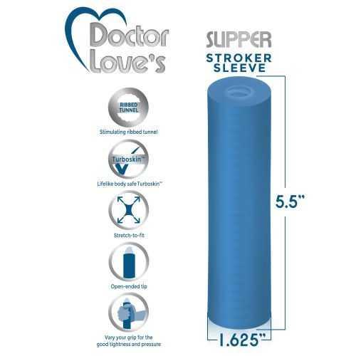 DOCTOR LOVE SLIPPER STROKER BLUE TRANSPARENT
