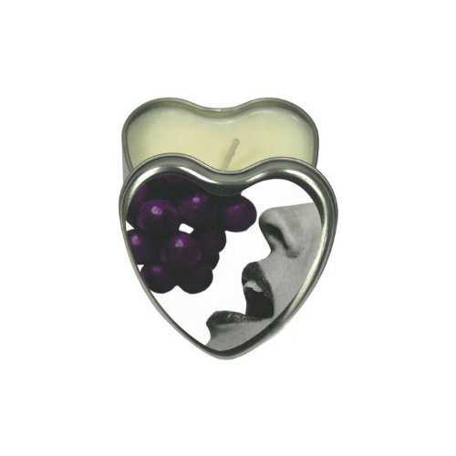 CANDLE 3-IN-1 HEART EDIBLE GRAPE 4.7 OZ