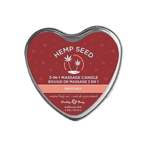 (WD) CANDLE 3-IN-1 HEART SMOOC 4 OZ