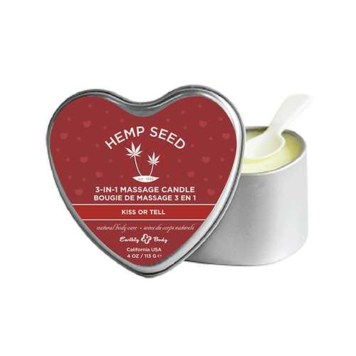 CANDLE 3 IN 1 HEART KISS OR TELL 4OZ CANDLE