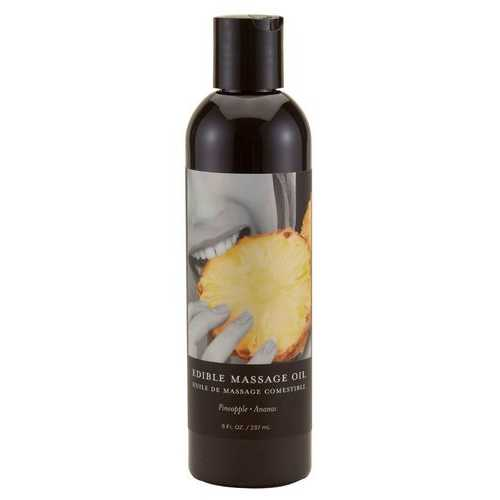 MASSAGE OIL EDIBLE PINEAPPLE 8 OZ