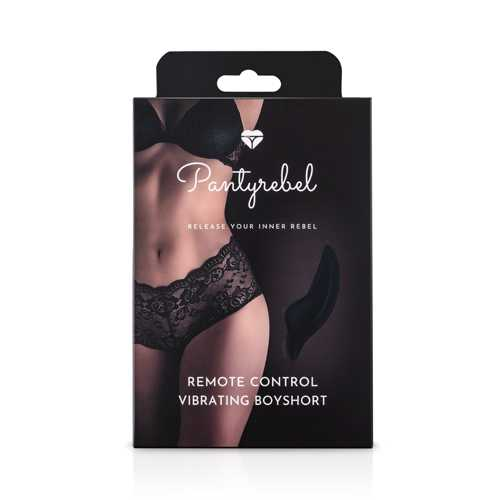 PANTY REBEL VIBRATING BOY SHORT W/ REMOTE