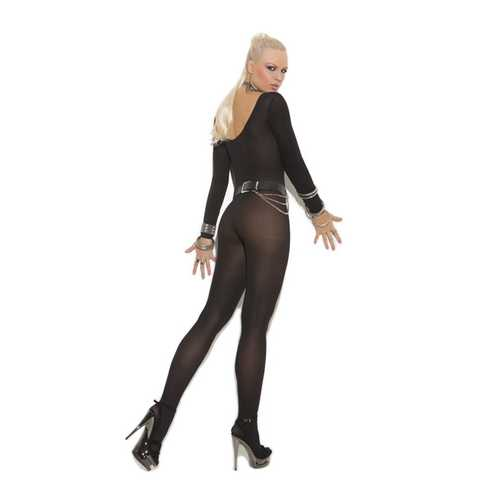 SHEER LONG SLEEVE BODYSTOCKING BLACK (Out Mid Dec)