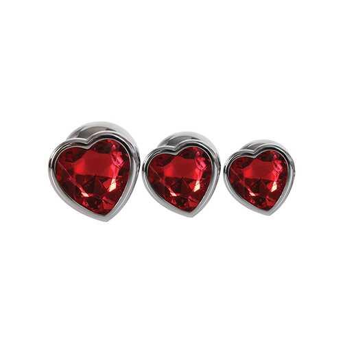 ADAM & EVE THREE HEARTS GEM ANAL PLUG SET
