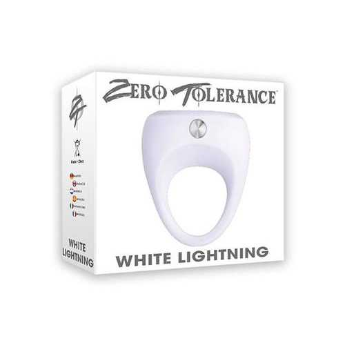 ZERO TOLERANCE WHITE LIGHTNING VIBRATING COCK RING