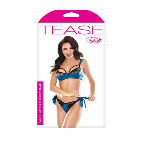 RAYNA CAGED BRA & SIDE TIE PANTY SMALL