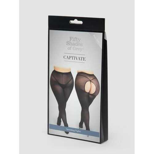 FIFTY SHADES CAPTIVATE PLUS SIZE BLACK SPANKING TIGHTS O/S QUEEN