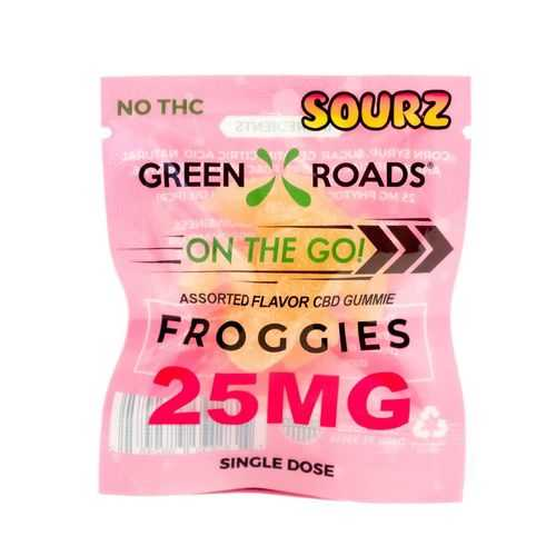 (D) CBD EDIBLES 25MG FROGGIES SOURZ ON THE GO (NET)