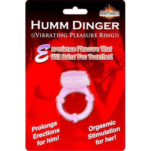HUMM DINGER PENIS RING CLIT STIM MAGENTA