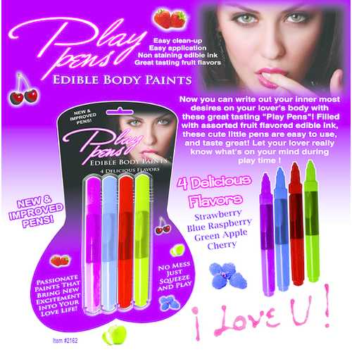 PLAY PEN EDIBLE BODY PAINT 4 PACK