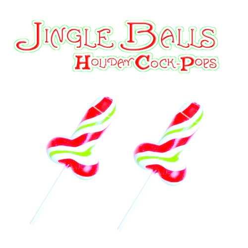 JINGLE BALLS HOLIDAY COCK POPS 12PC DISPLAY