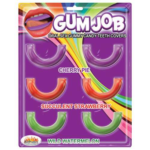 GUM JOB ORAL SEX CANDY TEETH COVERS 6 PACK