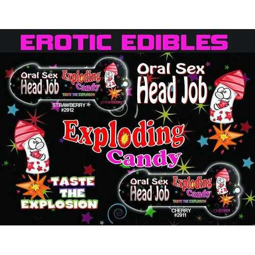 HEAD JOB ORAL SEX CANDY STRAWBERRY RED