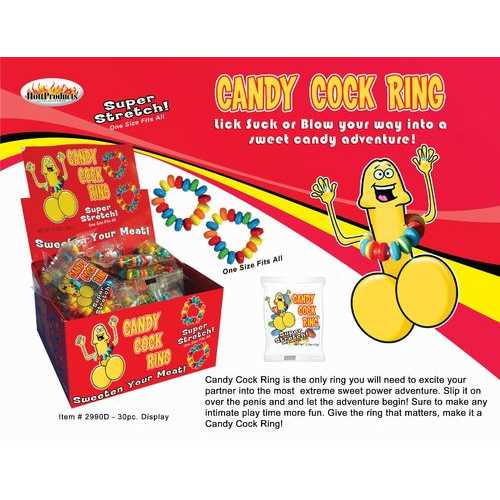 CANDY COCK RING 30 PC DISPLAY