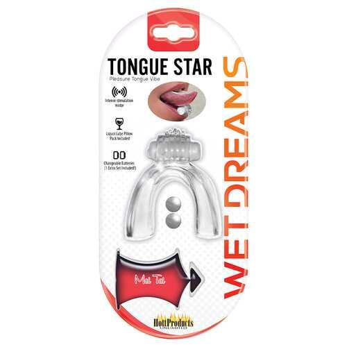 TONGUE STAR TONGUE VIBE CLEAR VIBRATING TONGUE WITH MOTOR