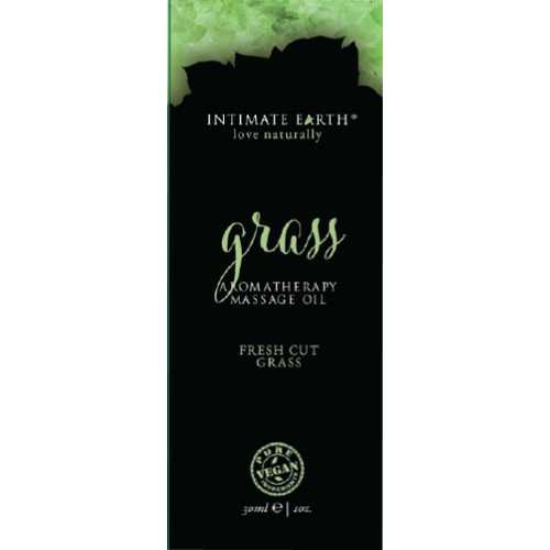 (D) INTIMATE EARTH GRASS MASSA OIL FOIL SACHET 1OZ