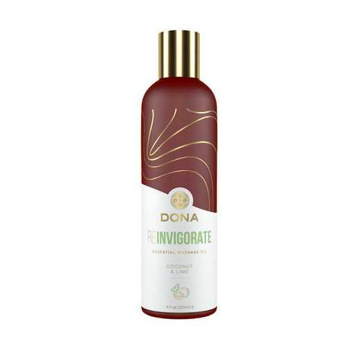 DONA ESSENTIAL MASSAGE OIL REINVIGORATE - COCONUT & LIME (Out Beg May)