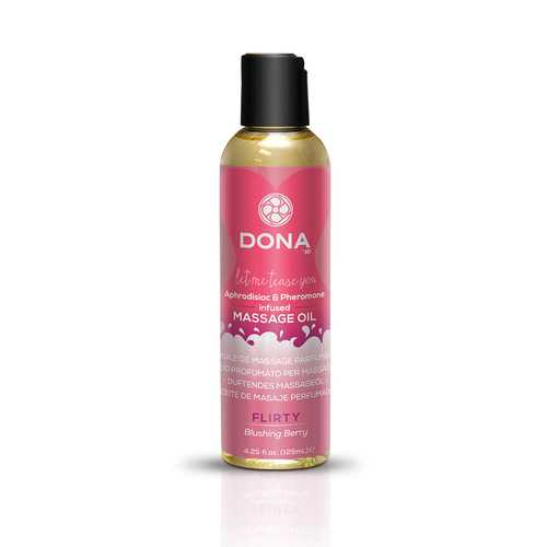 DONA MASSAGE OIL FLIRTY BLUSHING BERRY 3.75 OZ (Out end May)