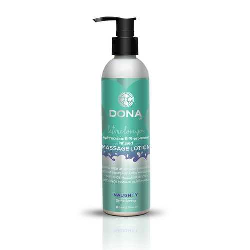DONA MASSAGE LOTION NAUGHT SINFUL SPRING 8 OZ
