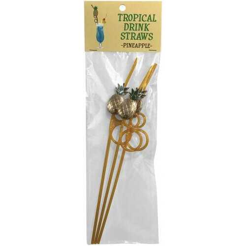 TROPICAL DRINK STRAWS PINEAPPLE