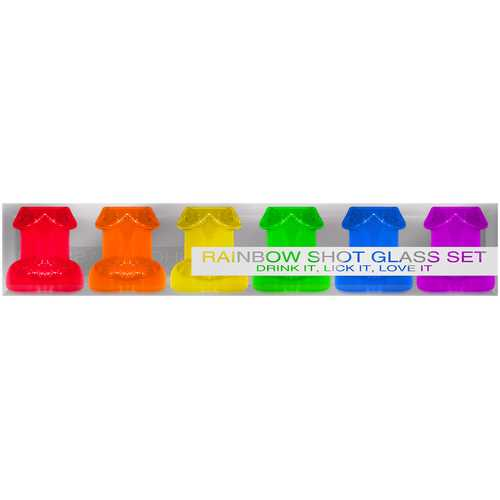 RAINBOW SHOT GLASS SET 6PC