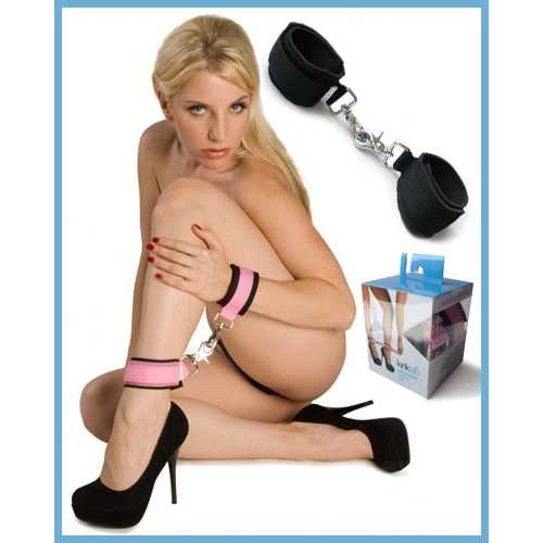 NEOPRENE PINK ON BLACK CUFFS(Out End Jan