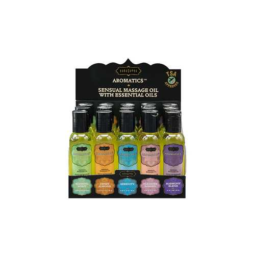 AROMATIC MASSAGE OILS PRE PACK 15PC DISPLAY