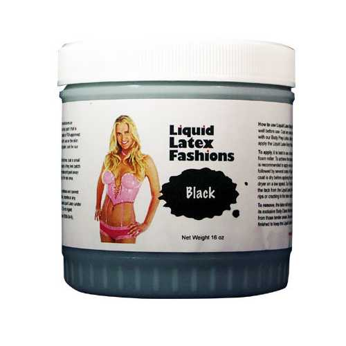 LIQUID LATEX SOLID BLACK 16OZ