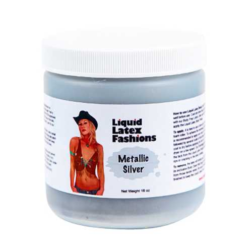 (WD) LIQUID LATEX METALLIC SIL 16OZ